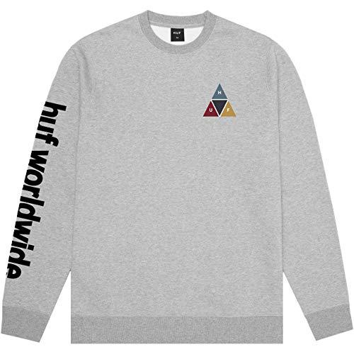 HUF Prism Crewneck - Grey Heather Größe: L Farbe: Grey Heather