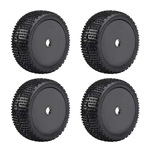 Neumáticos de Coche RC Goma de Resistencia a los Golpes para orugas(Black Outline Without Holes)