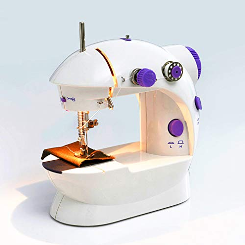Great Price! YUI Mini Sewing Machine with Extension Table Adjustable Double Threads and Two Speeds P...