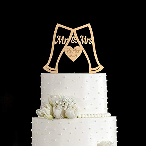 Biergläser Kuchen Topper Biergläser Hochzeit Kuchen Topper Personalisiert Biergläser Kuchen Topper Custom Biergläser Hochzeit Kuchen Topper