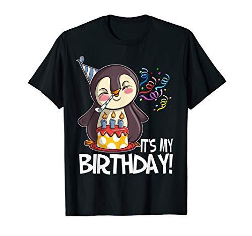 It's My Birthday Penguin T Shirt Gi…