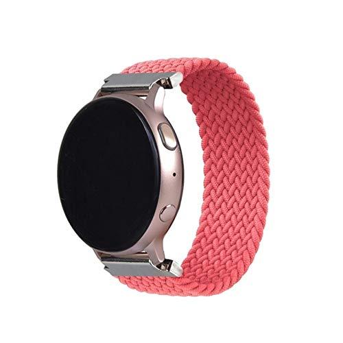 Sorteo 2021LATEST 20 22mm Braidy Solo Loop es Adecuado para Samsung Galaxy Watch 46mm 42mm, para el Reloj Huawei, para Amazfit BIP (Color : Pink, Size : L 22mm)