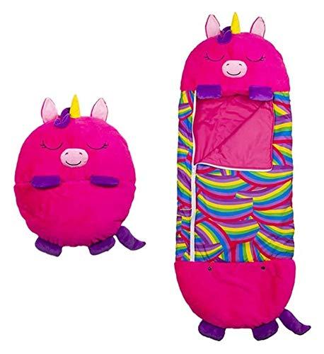 MEILEQI Cálido para niños Almohada y Saco de Dormir 2 en 1 Bolso de Dormir Animal Lindo para niños Cómodo Divertido de una Pieza Pijamas para niños Bolsos para Dormir para niños Sorprender Rose Rojo