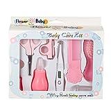 XuBa 8Pcs/Set Baby Infant Kids Multifunction Nail Hair Care Thermometer Grooming Brush Kit