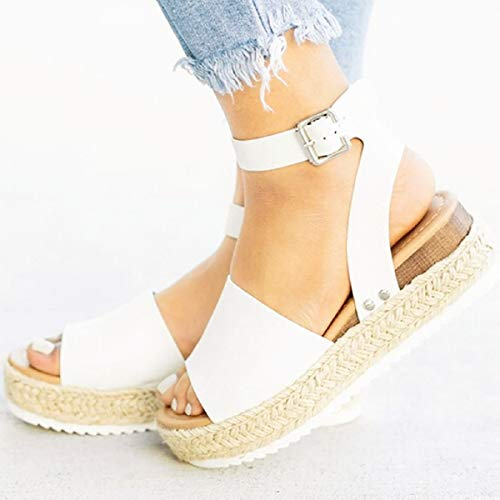 Sandalias Mujer Verano 2019 Color Sólido De Punta Abierta Con Sandalias De Mujer Sandalias Tacones Altos Zapatillas Zapatos Chanclas Tacon Estilo Bohemio