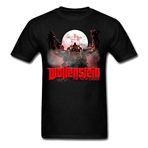 Popular WolfensteinPooterman Video Game Herren T-Shirt X-Large