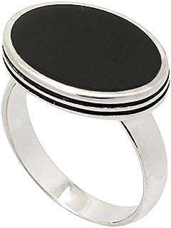 خاتم فضة استرليني - مالاكي بحجر ازرق للرجال من عتيق