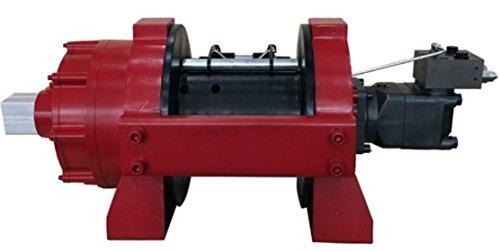 Winchmax - Cabrestante hidráulico de recuperación de 15,8 kg, HGV/industrial/comercial, cuerda de acero y gancho giratorio