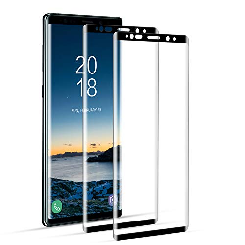 DOSNTO Screen Protector Samsung Galaxy Note 9 Tempered Glass Full Coverage [Case Friendly][Edge to Edge][Bubble Free][Anti-Scratch][Touch Sensitive][Ultra HD] Screen Guard Saver Shield Film