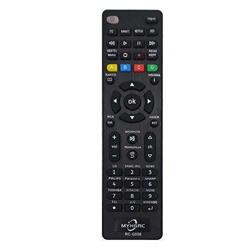 MYHGRC Mando Universal TV Apto para Sony/TCL/Hisense/LG/Sharp/Sanyo/Toshiba/Hitachi/Samsung/Philips/Panasonic Smart TV- No Requiere configuración Mando a Distancia Universal de TV
