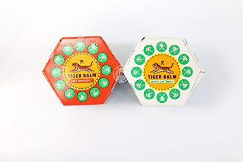 1 X Rouge Tigre Baume & Blanc Tigre Baume 100% Véritable 2 Bocaux - 9ml