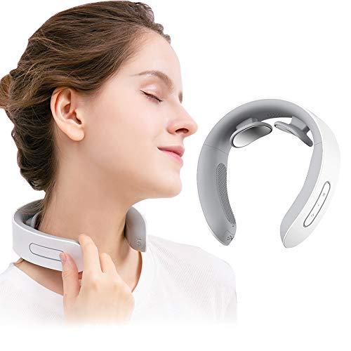 Masajeador de cuello, masajeador de hombro, masajeador de cuello eléctrico, cuello relajante, masajeador de cuello de pulso electromagnético con función de calefacción es adecuad