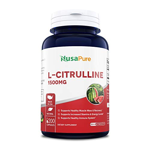 L-Citrulline 1500mg 200caps (Non-GMO & Gluten Free) Promotes Healthy Circulation and Cardiovascular Health - Supports Well-Being - Enhances Endurance
