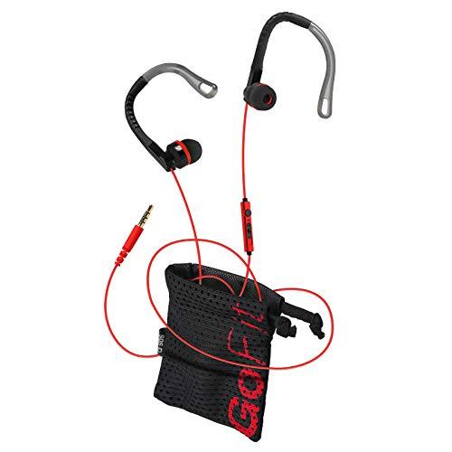SBS Auricolare Sportivo Stereo in Ear, Antiscivolo, Tasto di Risposta fine Chiamata e Microfono, Resistente al Sudore, con Archetto Adattabile e Attacco Jack 3.5, M