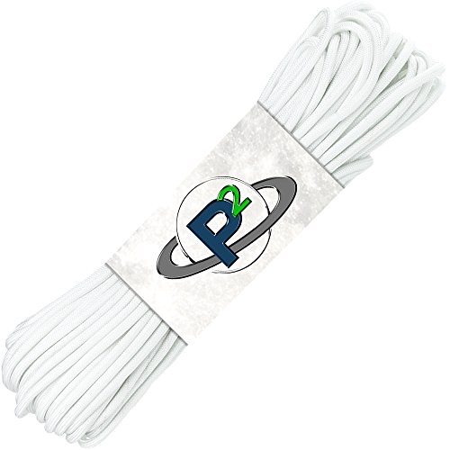 PARACORD PLANET Mil-Spec Commercial Grade 550lb Type III Nylon Paracord (White, 25 feet)