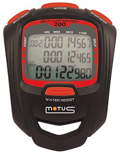 Cronometro sportivo con 200 intervalli, intervallo training e definizione a 1/1000 di secondo