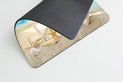 Smooffly Gaming Mouse Pad Custom,Seashells Starfishes Beach Seascape Thick Rubber Mousepad 9.5 X 7.9 Inch (240mmX200mmX3mm) Photo #3