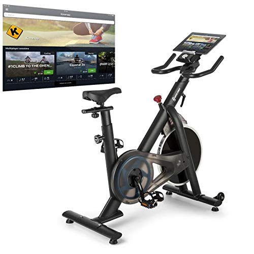 Capital Sports Evo Race Indoor Bike Cardiobike Heimtrainer,Kinomap-App-Unterstützung via Bluetooth-Pulsgurt,Schwungmasse: 22 kg,MagResist System: stufenloser Magnet-Widerstand,grau