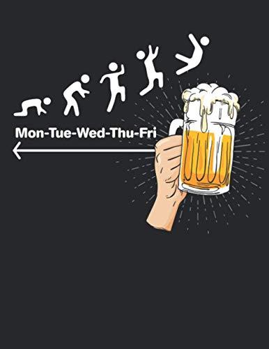 Bier Tasting Buch: Dein persönliches Verkostungsbuch zum selber ausfüllen ♦ für über 100 verschiedene Bier Sorten, Craft Beer, Pils, Pale Ale oder IPA ... A4+ Format ♦ Motiv: Wochenende Bier 3