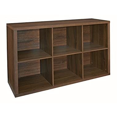 ClosetMaid 6109 Decorative 6-Cube Storage Organizer, Dark Chestnut