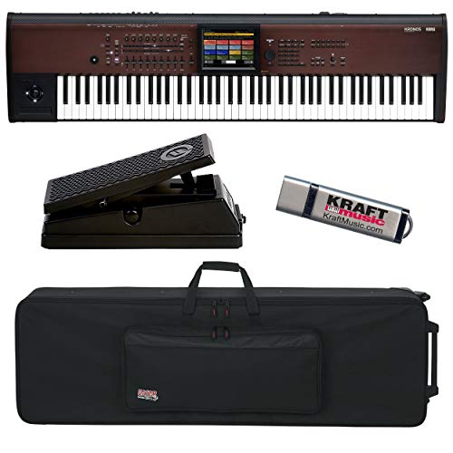 Buy Bargain Korg Kronos LS 88-Key Music Workstation with Expression Pedal, Keyboard Case with Wheels...