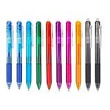 Stylo gel, stylo gel gomme, stylo gel rétractable, stylo gel effaçable, stylo gel effaçable pour enfants, stylo à encre, fournitures de bureau pour étudiants