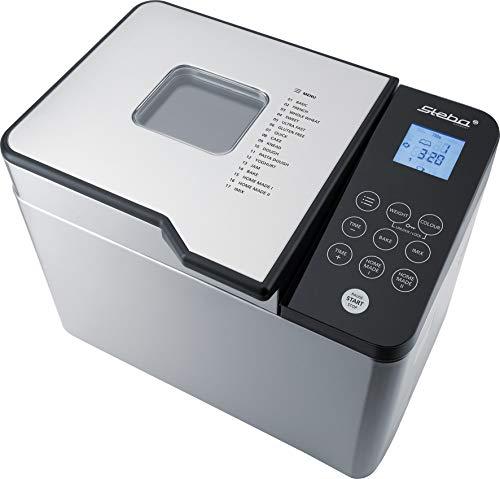 Steba Brotbackautomat BM 2, 17 Automatikprogramme, u.a. für glutenfreies Brot, Individuelles Programm für Zeit und Temperatur, inkl. Memory Funktion, Brotgewicht und Bräunungsgrad einstellbar