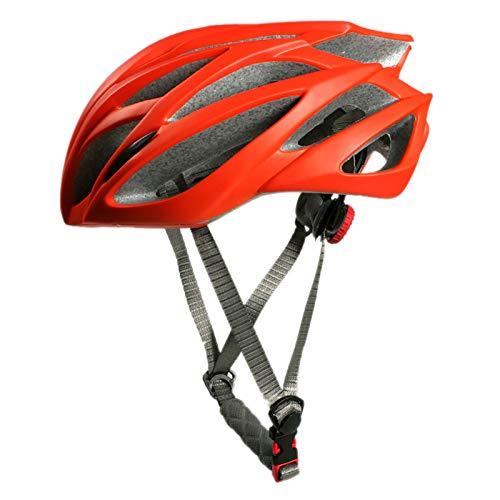 YATT Casco De Bicicleta, De Una Pieza Ultraligero Resistente A Los Impactos Tamaño Ajustable Extraíble Tamaño Libre Casco Rojo para Montar Adecuado para Hombres Adultos Mujeres