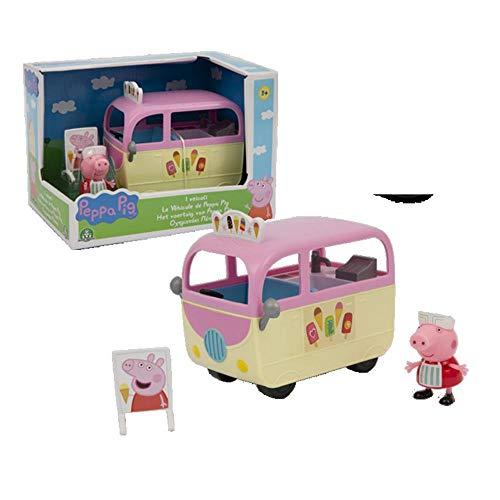 Giochi Preziosi- Peppa Pig - Camión de Helados, vehículos Serie 4, Multicolor (PPC15E02)