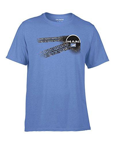 Man LKW - Auto Logo car Blau T-Shirt -046-Blau (L)
