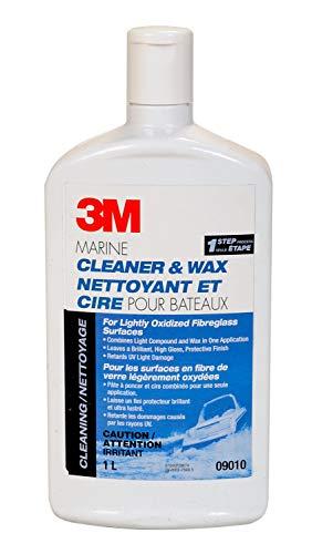3M Marine One Step Cleaner and Liquid Wax 09010E, 32 oz