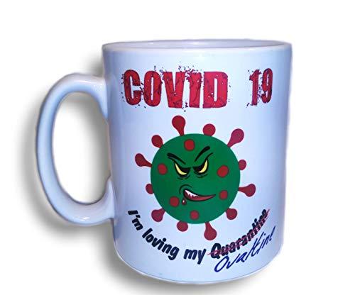 Covid 19 - Taza, diseño de coronavirus