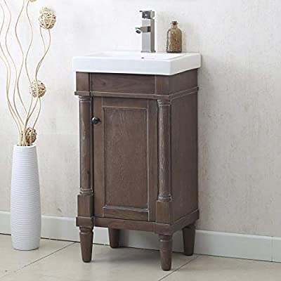 """Legion Furniture WLF7021-18 18"""" WEATHERED GRAY SINK VANITY, NO FAUCET"""