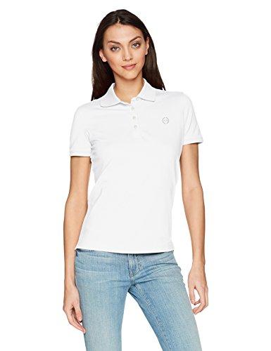 Armani Exchange Damen 8NYF72 Poloshirt, Weiß (White 1100), X-Small