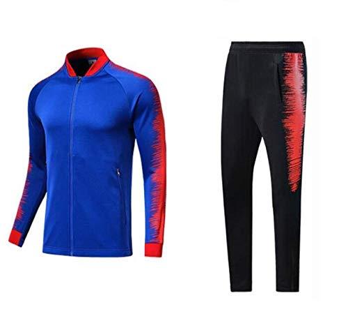 Bmstjk primavera autunno calcio tuta allenamento a maniche lunghe pantaloni allenamento set sport corsa ciclismo fitness tuta multicolore XS