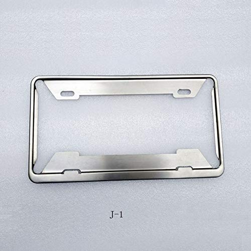 For Japan License Plate Frame Cover Holder Japanese Number Registration Plate Holder Frame Car Accessories 1 Pcs Car accessories ZHQHYQHHX (Color : Silver, Size : Free)