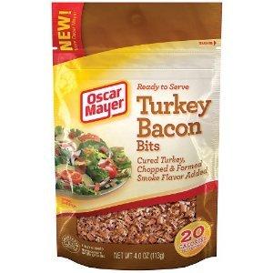 Oscar Mayer Turkey Bacon Bits, 4 Oz (Pack of 4)