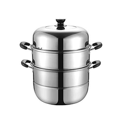 hongbanlemp Vaporeras para ollas Tres Capas de Hogares Vapor Grande del cajón Universal Vapor del alimento del Acero Inoxidable Vaporera