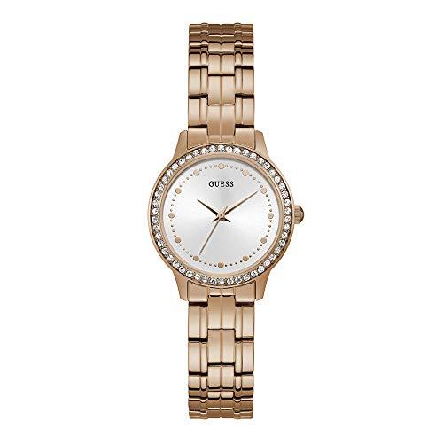 Guess Chelsea - Armbanduhr - Damenuhr - Quarzuhr - Edelstahl - rosegoldfarben - mit Steinen