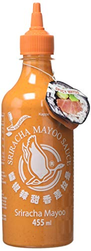 FLYING GOOSE Sriracha Mayoo Sauce - Mayonnaise, leicht scharf, orange Kappe, Würzsauce aus Thailand, 1er Pack (1 x 455 ml)