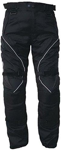 Protectwear Pantalón de moto, Pantalón textil WCT-703 negro Talla 62 / 5XL