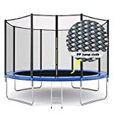 YTM 𝕋rampoline for Adult Kids Outdoor 𝕋rampoline with Safety Net 12ft High Weight Limit Ladder Jumping Mat,All Accessories Children Fitness Parent-Child Games Bounce Bed Max Load 600 lbs