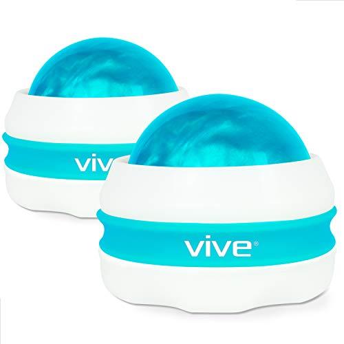 Vive Massage Roller Ball (2-Pack) - Self, Full Body Manual Mini...