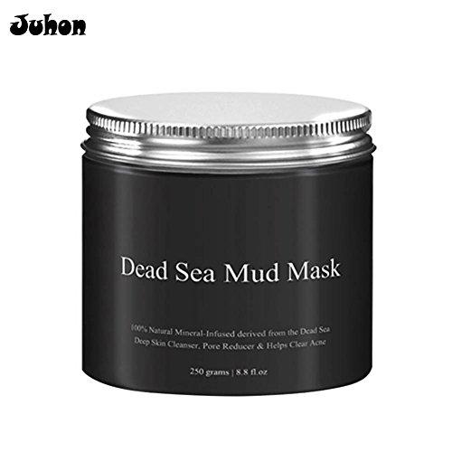 juhon máscara de barro del Mar Muerto para la piel Grasse acné Blackheads Pore Minimizer máscara negro facial