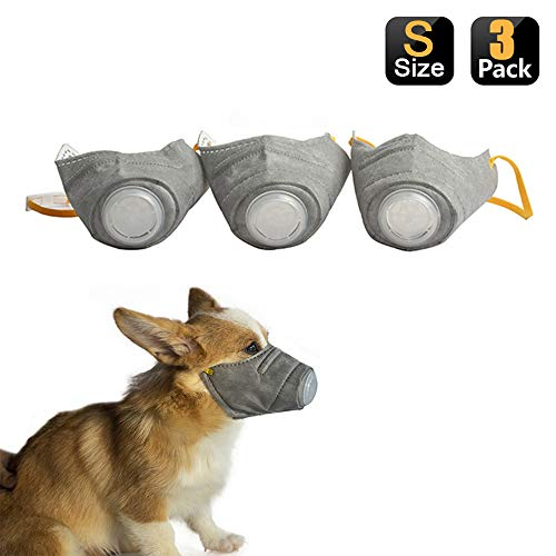 (10% OFF) Adjustable Dog Respirator Protective Mask 3 Pack $8.99 Deal