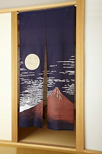 Fukui Textile Factory Akafuji Noren Curtain Tapestry Long Type