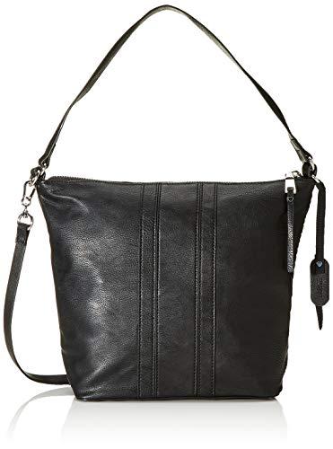 Esprit Accessoires Damen Isla Hobo Shldb Schultertasche, Schwarz (Black), 12x27x25 cm