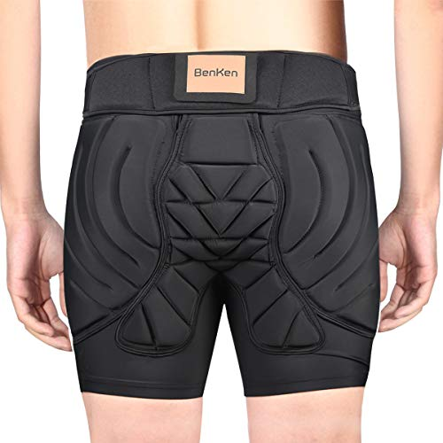 BenKen Hip Protector Sports Cycling Pants Bicycle 3D EVA Pads Flexibility Pain Relief Shock Absorption Sweat Wicking Breathable Quick Drying Elastic Bicycle Cycling Wear (M)