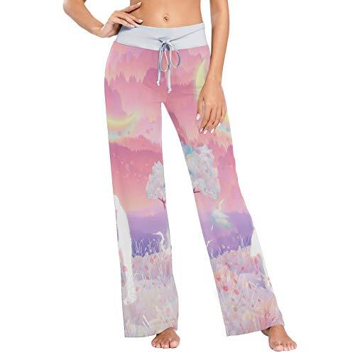 pigiama donna baci e abbracci colormu Pantaloni da Pigiama da Donna Pantaloni da Notte Pantaloni Lunghi Atletici a Gamba Larga Coppie Bacio e Abbraccio