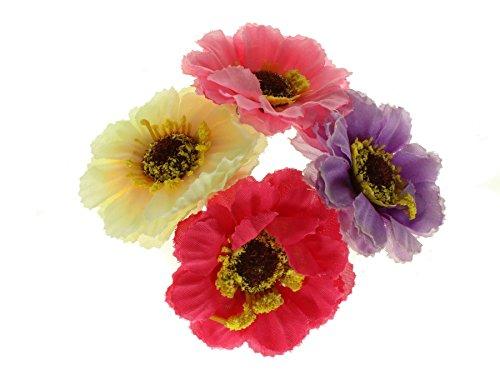 Coloured Flower Bun Garland Scrunchie Elastic Ballerina Ballet Dance Gymnastics